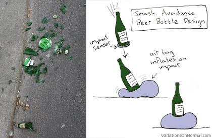 非粉碎玻璃啤酒瓶