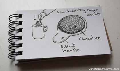 Chocolatey finger biscuits