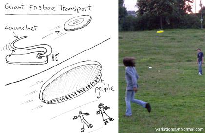 Giant Frisbee Human Transportation