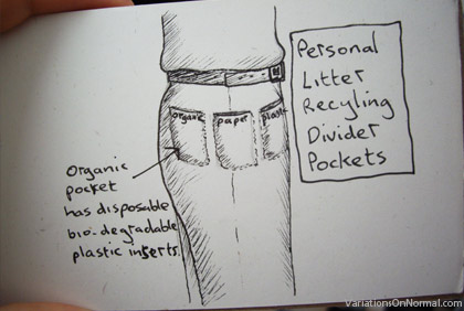 Recycle with your pockets
