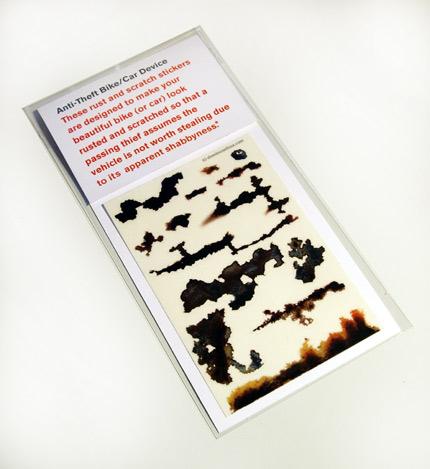 Anti Theft Rust Stickers