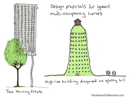 Designs for green multi-occupancy homes