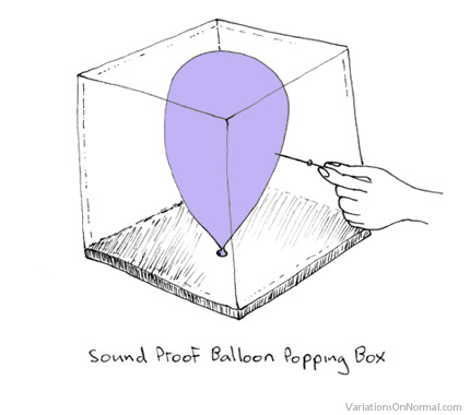 silent balloon popping box