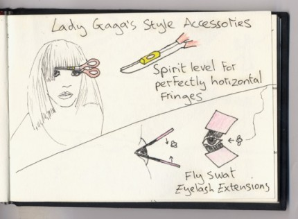 Dominic Wilcox's take on Lady Gaga's Accessories