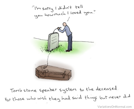 墓碑扬声器系统为遗憾