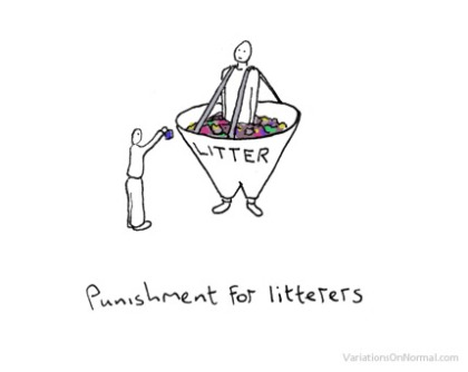 Punishment for Litterers