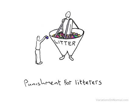 Punishment for Litterers