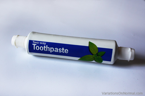 weird toothpastes--two way