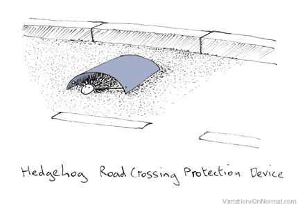 hedgehog road crossing device