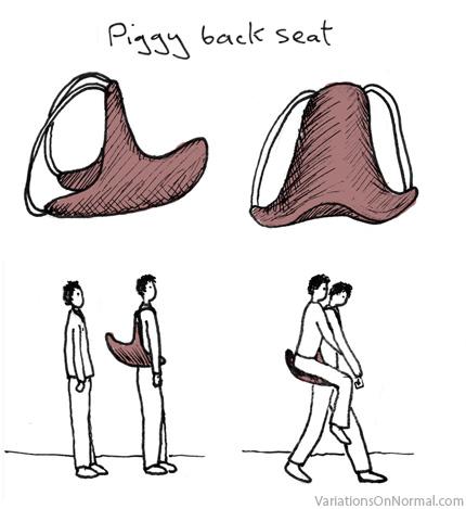 Piggy back seat