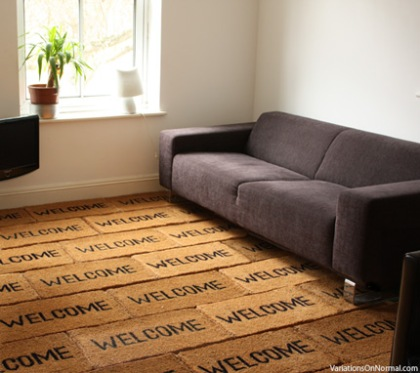Welcome mat carpet