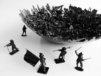 Black War Bowl by Dominic Wilcox