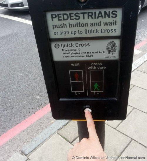 Fingerprint activated instant pedestrian crossing