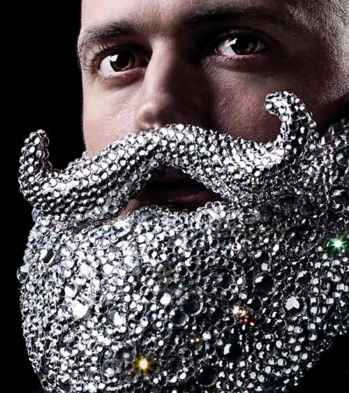 crystal beard detail by Dominic Wilcox