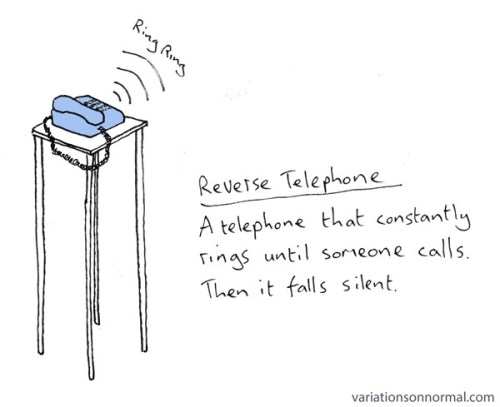 reverse telephone by Dominic Wilcox